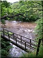 SN8312 : Confluence of Nant Llech with the Tawe by Alan Bowring