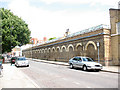TQ3378 : Old railway buildings, Pages Walk, Bermondsey by Stephen Craven