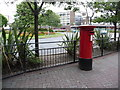 SZ0191 : Poole: postbox № BH15 18, George Roundabout by Chris Downer