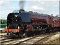 SK4151 : LMS superpower at Swanwick station by Ashley Dace