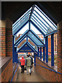 SO6024 : Covered walkway on a rainy Saturday, The Maltings by Pauline E