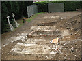 TQ1867 : Exposed graves, St Mark's churchyard, Surbiton by Stephen Craven