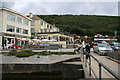 SW8467 : Sea front at Mawgan Porth by Kate Jewell