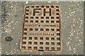 J3474 : Fire hydrant cover, Belfast by Albert Bridge