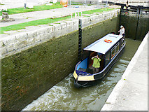 ST8260 : Canal boat on the way up the Kennet and Avon canal (3) by Brian Robert Marshall