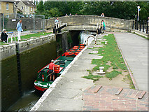ST8260 : Canal boat on the way down the Kennet and Avon canal (10) by Brian Robert Marshall