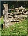 SH7460 : Postyn giat garw / A rustic gatepost by Ceri Thomas