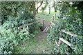 SP7407 : Farm walk footbridge by Tim S Addison