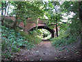 SK8633 : Railway Bridge, Belvoir Road, near Denton by John Sutton