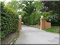 TQ2829 : New gateposts at entrance to Dittons Place by Dave Spicer