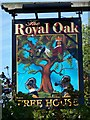 SU1963 : Sign for the Royal Oak by Miss Steel