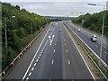 TQ0285 : M40 approaching junction 1a (M25) by Shaun Ferguson