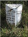 SJ3861 : Cheshire County Council mile marker near Belgrave Bridge by John S Turner