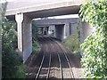 NS6963 : Bredisholm, four bridges by Robert Murray