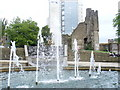SS6593 : Fountain at Swansea Castle by Colin Smith