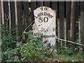 TL1896 : Milepost on London Road by Michael Trolove