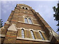 TQ2278 : Tower of St John the Evangelist Church by PAUL FARMER