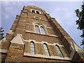 TQ2278 : Tower of St John the Evangelist Church by PAUL FARMER