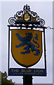 TL7205 : The Blue Lion Public House sign by Adrian Cable