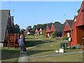 TR3748 : Kingsdown Park chalet village by John Rostron