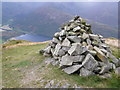 NY4113 : Cairn on Brock Crags by Phil Catterall