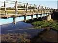 TL1835 : Close up of footbridge by Martin