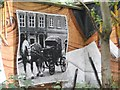 NS5766 : Mural, Kelvingrove Park. 14 - Horse drawn by Richard Webb