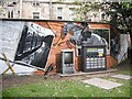NS5766 : Mural, Kelvingrove Park. 16 - Horse by Richard Webb