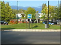 SP3077 : Floral display, Fletchamstead Highway roundabout by E Gammie