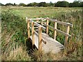TF3464 : Footbridge, Old Bolingbroke by Dave Hitchborne