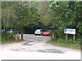 SW7948 : Car park at the entrance to Five Acres at Allet by Rod Allday