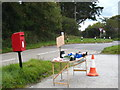 SW7948 : Roadside produce stall at Allet by Rod Allday