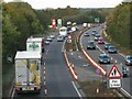 SP2664 : A46 Northbound from Hampton Road bridge near Warwick by Robin Stott