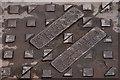 J3474 : Manhole cover, Belfast by Albert Bridge