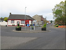 NS7659 : Roundabout on the B799 in New Stevenston by G Laird