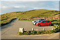 SW5842 : Roadside carpark south of Godrevy Point by Andy F