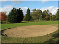 TQ4474 : Bunker on Eltham Warren golf course by Stephen Craven