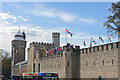 ST1876 : Cardiff Castle with flags by Mick Lobb