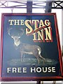 ST7758 : Sign for the Stag Inn by Maigheach-gheal