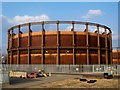 TQ3882 : Gas Holder at Bow by tristan forward