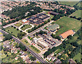 TQ7988 : Aerial view of Castle Point Council Offices, Runnymede Hall and Pool by Edward Clack