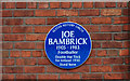 Photo of Joe Bambrick blue plaque