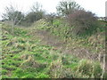 ST7168 : Hill Fort bank and ditch defences by James Ayres