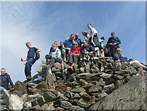 SH6054 : Snowdon Summit (mind the step !) by Michael Westley