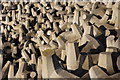 NT7475 : Concrete Blocks at Torness : Week 49