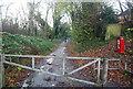 TQ7854 : Barrier on the Len Valley Walk by Nigel Chadwick