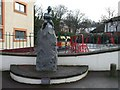 J3979 : Johnny the Jig sculpture, Holywood by Kenneth  Allen