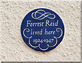 Photo of Forrest Reid blue plaque