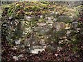 NS4178 : Remains of lime-kiln (wall detail) by Lairich Rig