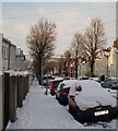 TQ3205 : Bernard Road in the Snow by Paul Gillett
